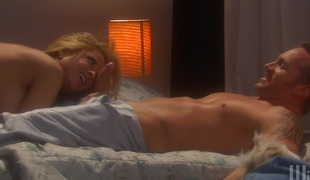 Hot blonde glides cock inside her condition up reverse cowgirl position