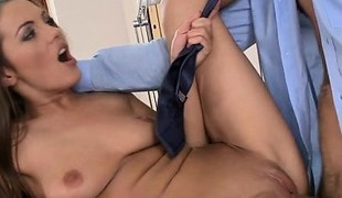 Busty girlfriend exploitatory gagging