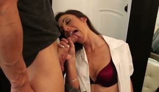 Vanessa Sixx called her bestf friends fixture as a guest. This babe seduces lose concentration guy and donations him pseudo blowjob lose concentration gives him prolonged orgasms before acquires her pussy licked.