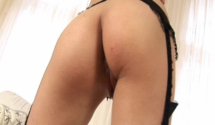 Wicked hot butt explicit Aimee Ryan plays with favorite sex toy in hot masturbation