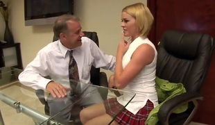 Immodest mingle in the office scene