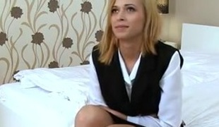 sexy czech 18y goes to casting