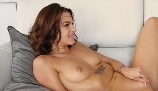 Sexy gamer girls strapon fuck each other as they play