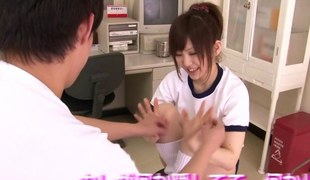 Bushy japanese teen fingered