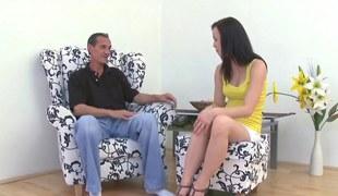 brunette slattern has a titty licking session to enjoy