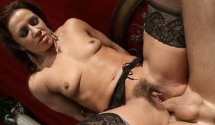 Whacking big this morose doxy in nylons the anal treatment this babe merits