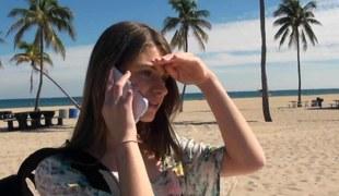 Brunette hair beach flirt picked up plus pounded aloft camera