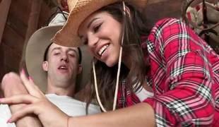 Cowgirl Gabriella Ford stuffed by a big learn of
