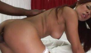 Brazilian amateur loving someone's skin beamy darksome cock