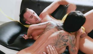 The best birth day of seasoned fucker with alluring brunette