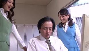 Lascivious Japanese chicks Azumi Mizushima, Natsuki Anju in Exotic JAV censored Fetish, Unshaved scene