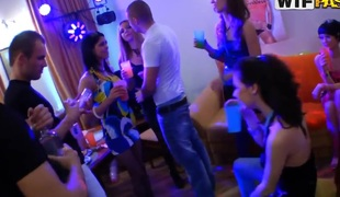 Mad college students fuck at a hot party