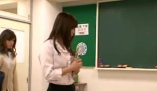 Horny Asian hotty Seduces Teacher Lesbo