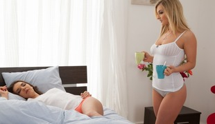 Henessy & Jemma Valentine in Hot Morning - SapphicErotica