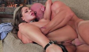 Nailing a nasty pornstar slut in her slick pussy