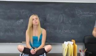 College teen gets creamed