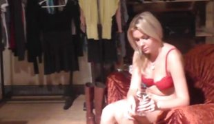 Hawt 18yo blondie shows her conclave to the fore 1st CASTING