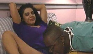 Admissible dark murk in high heels getting pounded doggystyle in interracial dealings