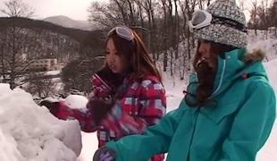 Exotic Japanese babes Akari Hoshino, Rin Aikawa, Wakana Kinoshita in Incredible JAV censored POV, Gangbang clip