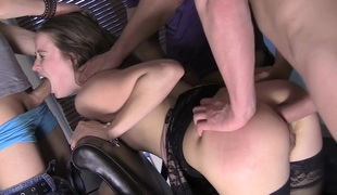 Stephany in double penetration sex clip with taissia shanti