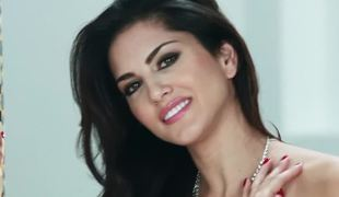Porn superstar Sunny Leone in a seductive solo tease scene