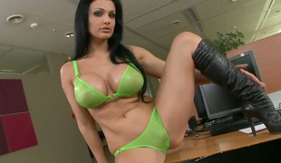 Aletta Ocean with reference to chubby jugs acquires the pleasure unfamiliar love tunnel dildoing