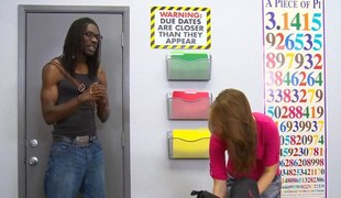 Big Negroid teacher pounds a cute legal age teenager pupil