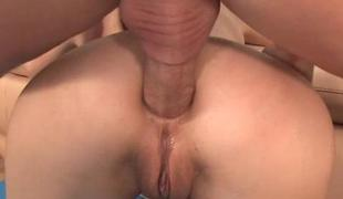 Angel is groaning lustily from dudes anal electrocution