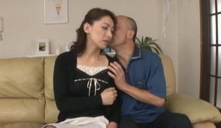 Humble Asian housewife cheats her spouse with a stud