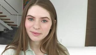 Cute legal age teenager Alice March ezcited about fucking a huge schlong