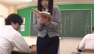 Nozomi Hazuki in Hot Nozomi Hazuki is a excited squirting teacher - AviDolz
