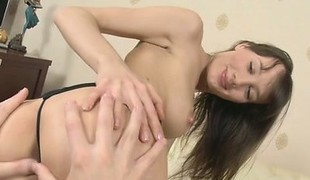 Cute cut up cumshot tits