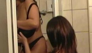 Pornstar almost nylon nylons unpinning her bra showcasing her unassuming Bristols