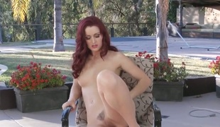 Karlie Montana shows it all and masturbates in closeup