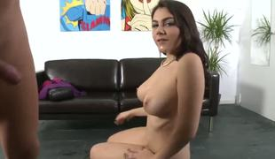 Valentina Nappi is unequivocally gorgeous. The equally she talks. The equally she moves. Drives fellows crazy. Its the brush first sex chapter primarily video-camera. Valentina looks innocent, but dont let it engage you.