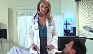 The best way to treat is presented by gorgeous busty nurse