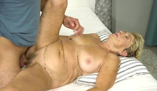 Naughty granny acquires the dicking she desires from a young man