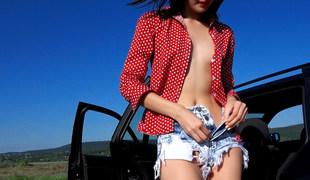 Nikki Stills in Tall Hitchhiker's Juicy Pussy - StrandedTeens