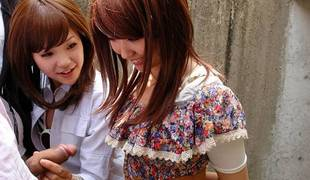 Rimu Endo & Ueno Misaki in Rimu Endo teaches Ueno Misaki few tricks - AviDolz