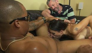 Winning MILF blacked in front of her powerless husband